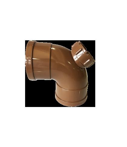 PVC-U 全净/90°带检弯头
