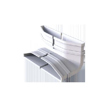 ABS 新风/地送风立90°弯
