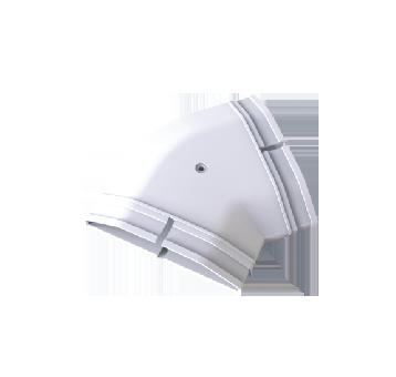 ABS 新风/地送风水平45°弯